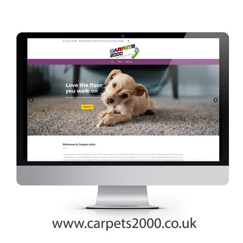 Carpets 2000 website design example