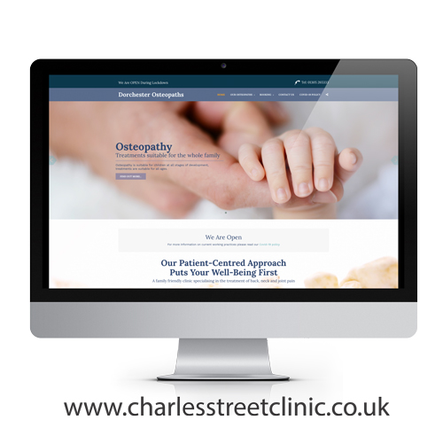 Dorchester Osteopaths website design example
