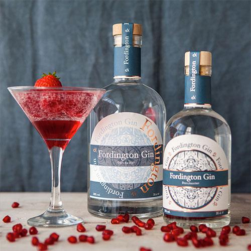 Classic Fordington Gin label design