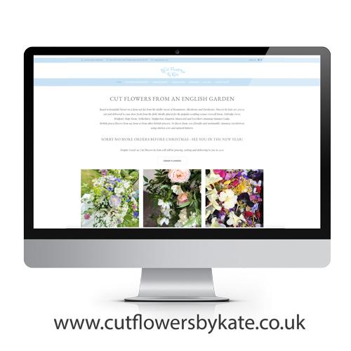 Cut Flowers by Kate, website design