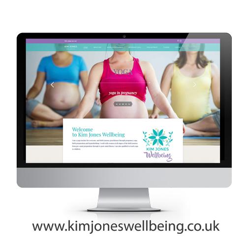 Kim Jones Wellbeing Website design