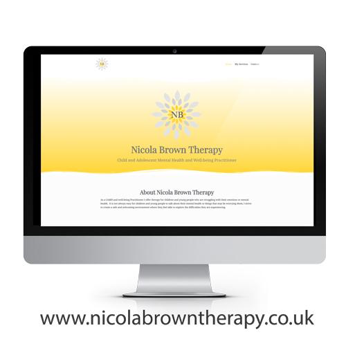 Nicola Brown therapist, website design