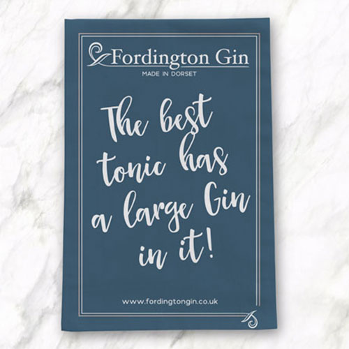 fordington gin tea towel design