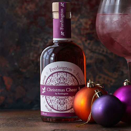 Fordington Gin Christmas Cheer labels